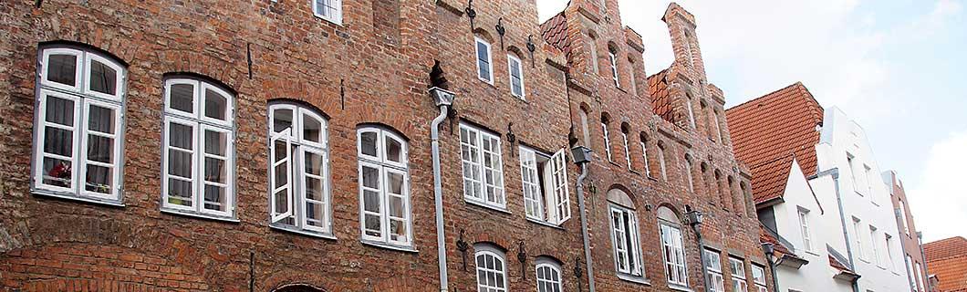 Backsteingiebelhäuser in der Altstadt