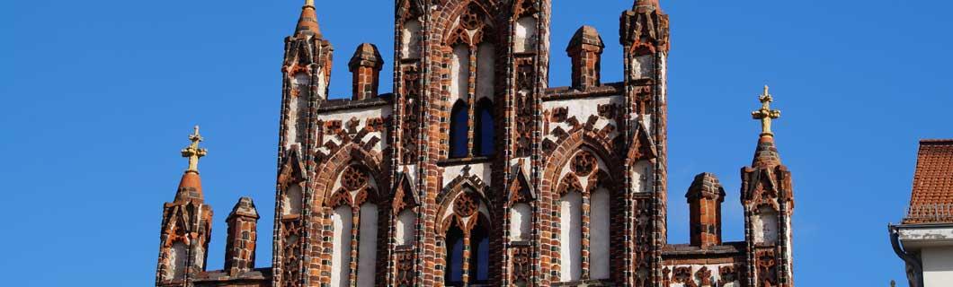 Gotischer Giebel am Markt in Greifswald