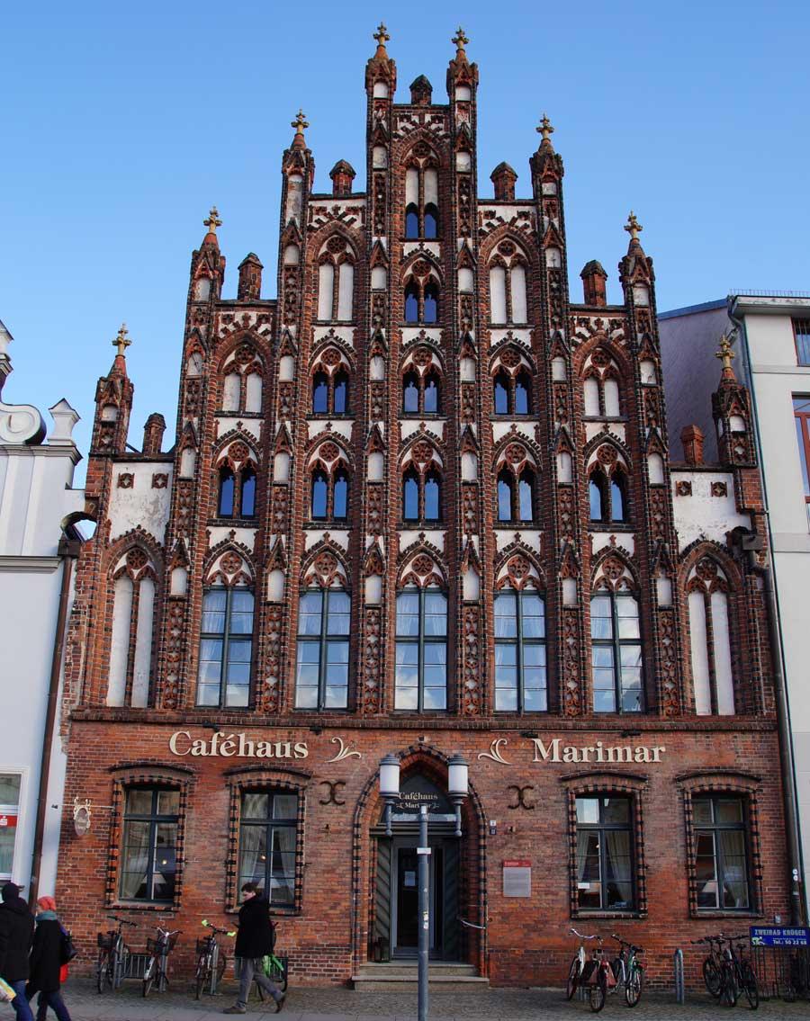 Gotische Fassade in Greifswald