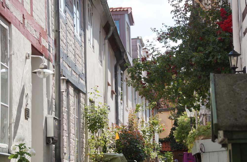 Gänge in der Altstadt von Lübeck