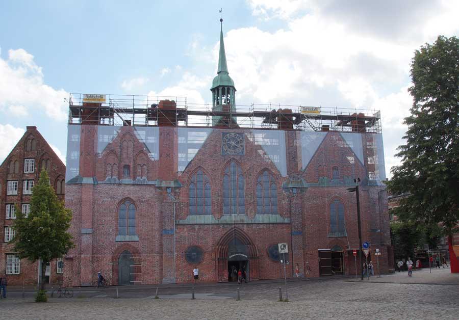 Das Heilige-Geist-Hospital bei Bauarbeiten