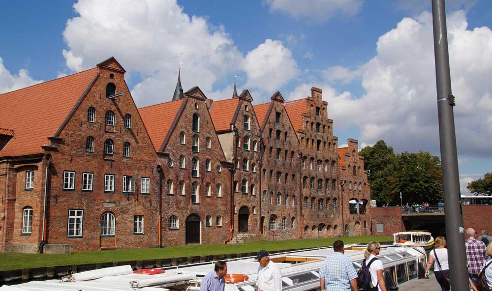 Die Salzspeicher, berühmte Sehenswürdigkeiten in Lübeck