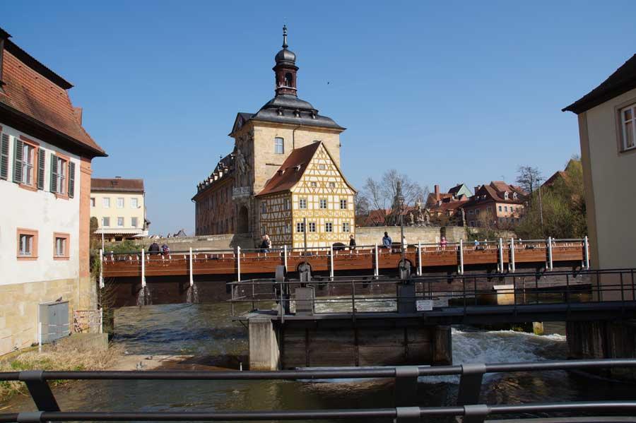 Altes Rathaus in der Altstadt von Bamberg