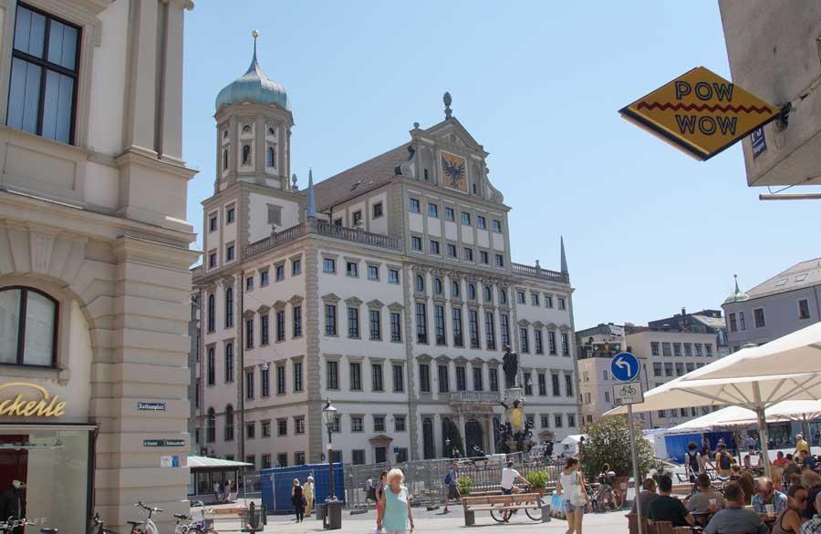 Renaissance Rathaus in Augsburg in der Altstadt von Augsburg