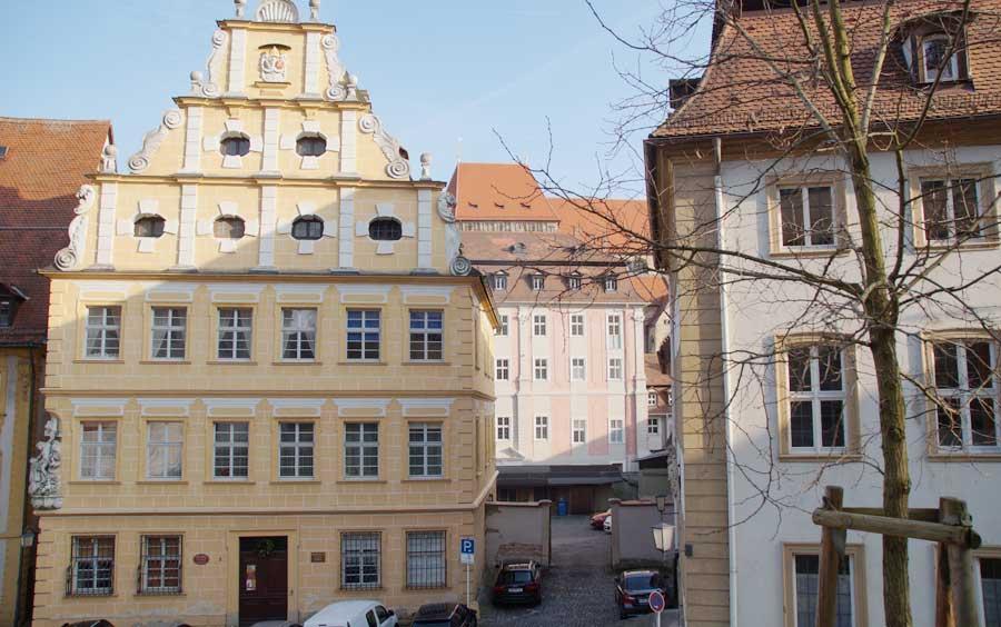 Barockfassade in der Altstadt von Bamberg