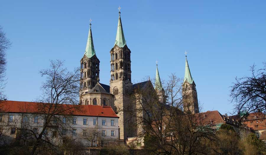 Kaiserdom in der Altstadt von Bamberg