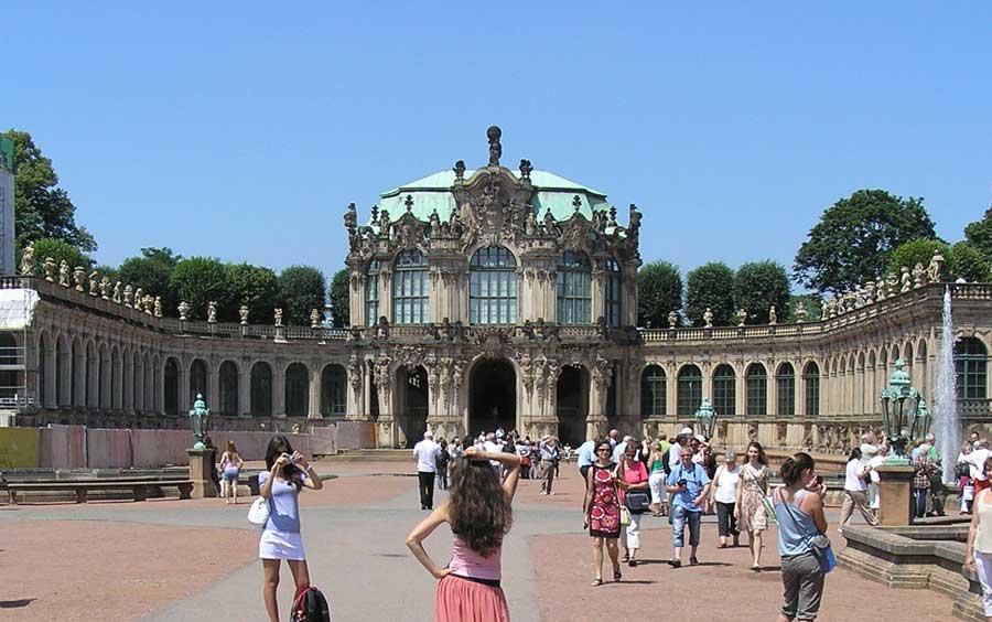 Wallpavillon im Zwinger in Dresden