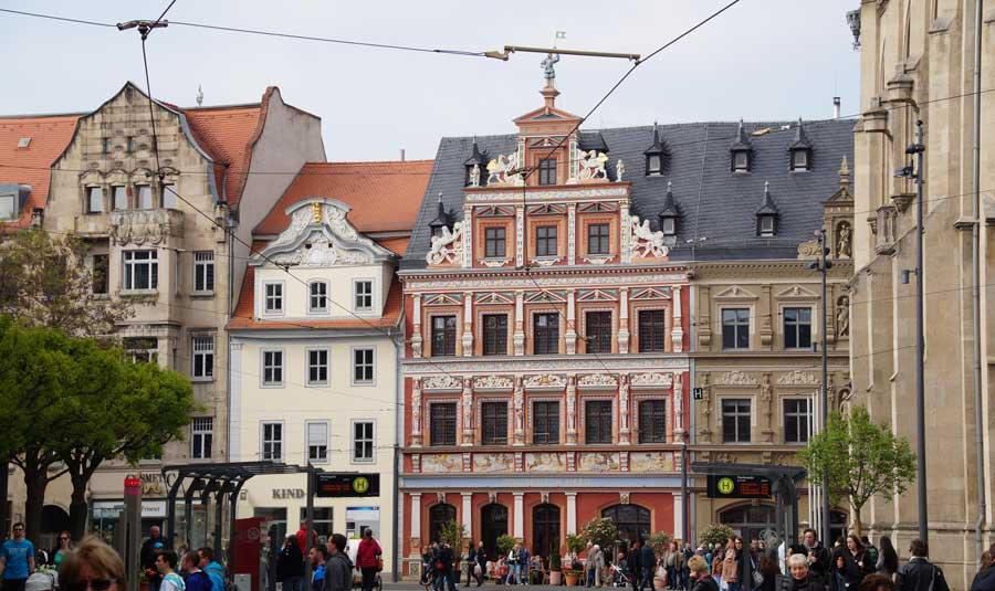 Fischmarkt in der Altstadt von Erfurt