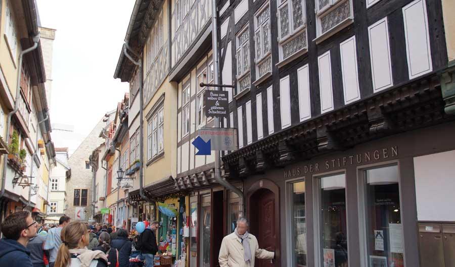 In der Altstadt von Erfurt - die Krämerbrücke