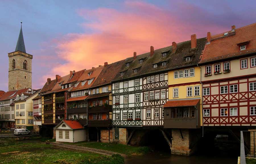Sehenswürdigkeiten in Erfurt - Krämerbrücke von außen