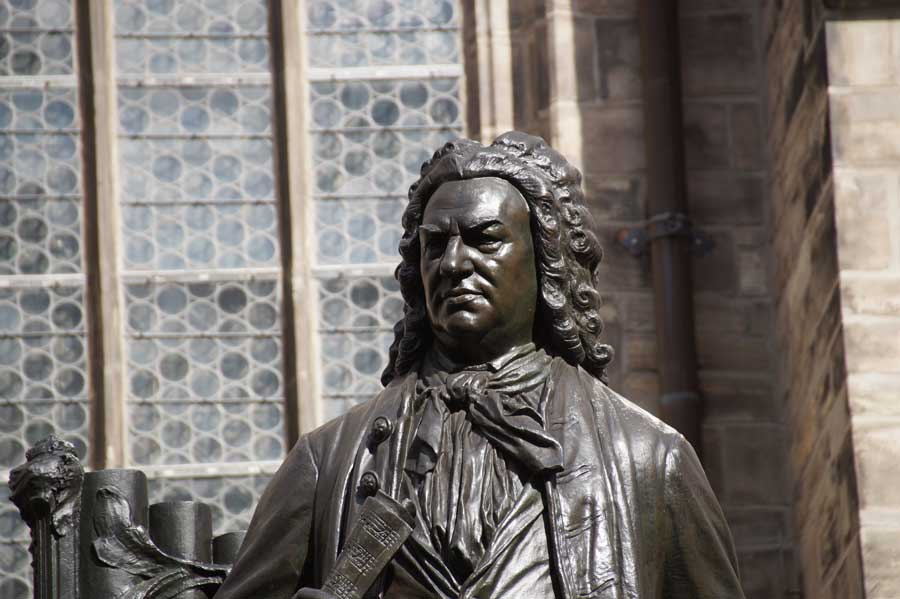 Bach in Lübeck - Johann Sebastian Bachs Statue in Leipzig