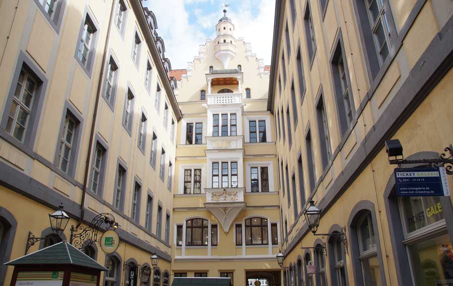 Barthels Hof in der Altstadt von Leipzig