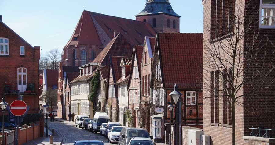 Senkungsgebiet in Lüneburg