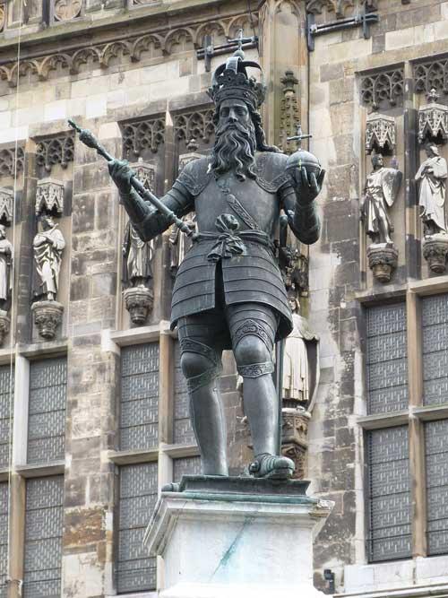 Aachen Markt mit Karl