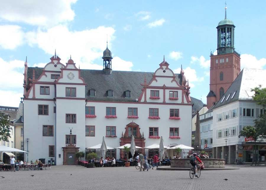 In der Altstadt von damrstadt - Rathaus