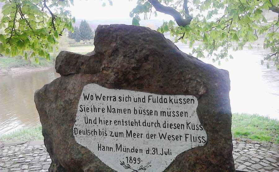 Weserstein Sehenswürdigkeiten in Hann. Münden