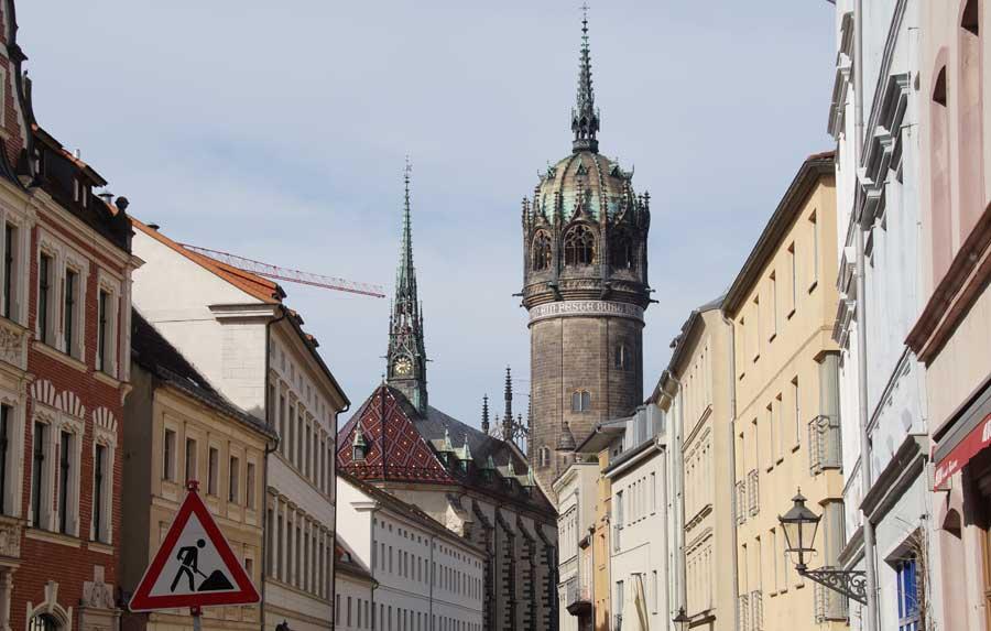 Die Schosskirche in der Altstadt von Wittenberg