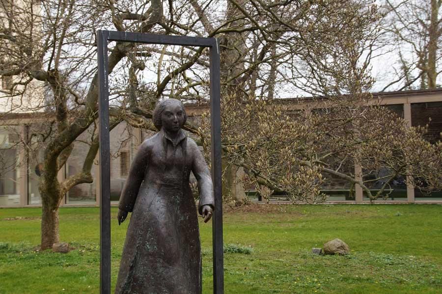 Luthers Ehefrau Katharina von Bora im Lutherhaus Museen in Wittenberg