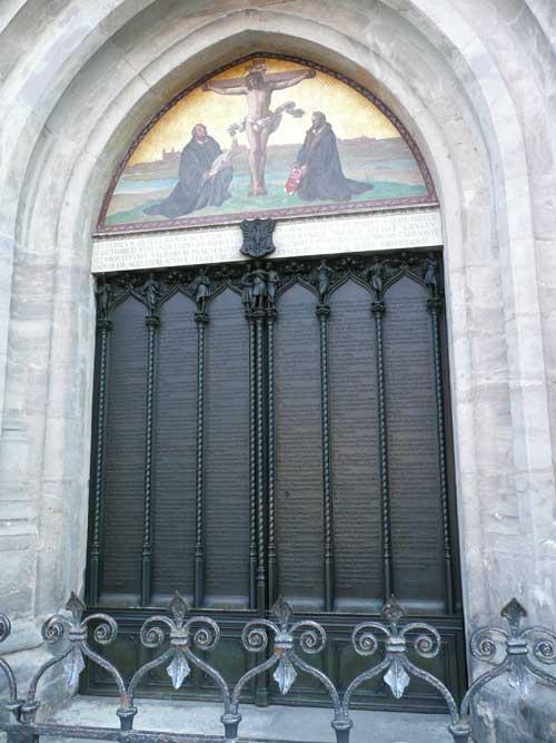 Thesentür in der Schlosskirche der Lutherstadt Wittenberg