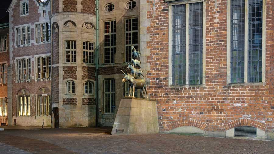Bremer Stadtmusikanten in der Altstadt von Bremen