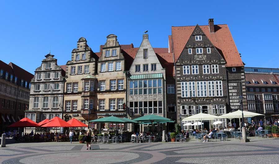Sehenswürdigkeiten in Bremen - Häuser am Markt