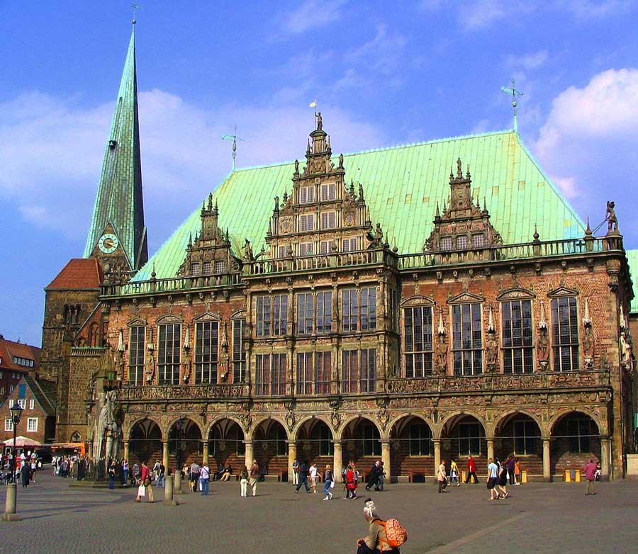 Eine der schönsten Sehenswürdigkeiten in Bremen - Rathaus in Bremen
