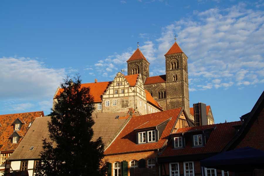 Schloss über der Altstadt von Quedlinburg