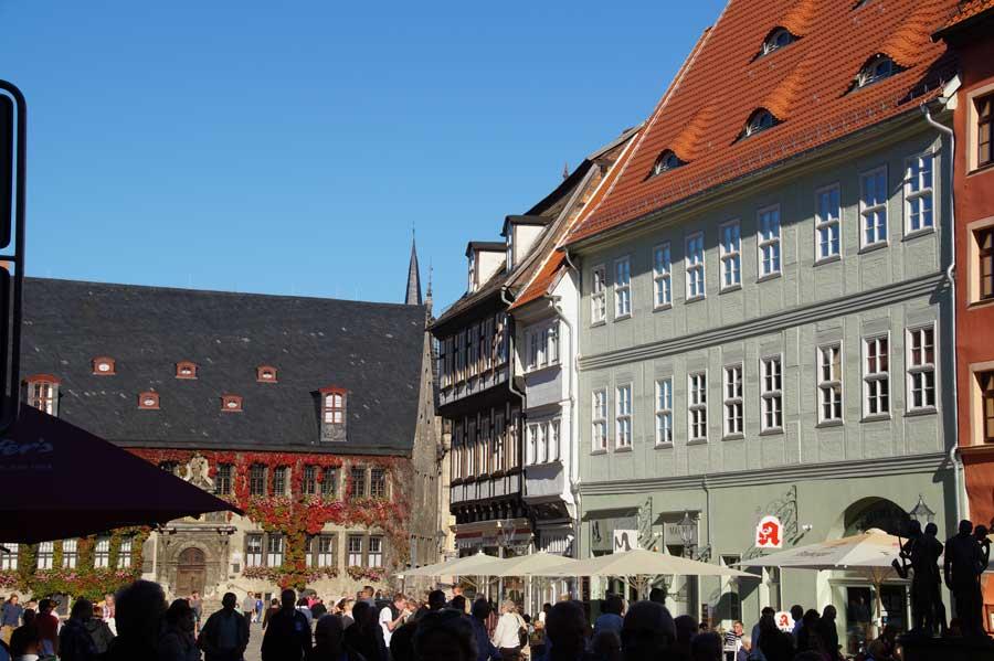 Der Marktplatz in Quedlinburg