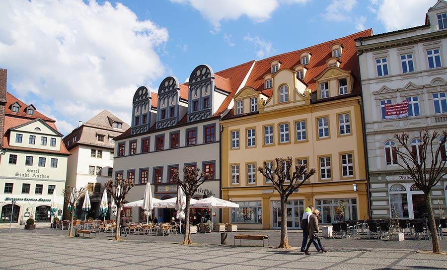 Der Markt in der Altstadt von Naumburg