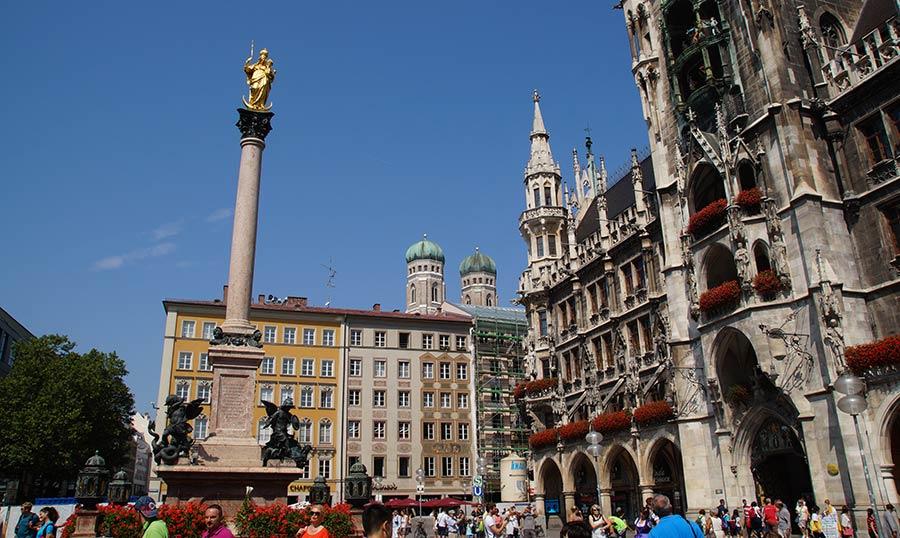Sehenswürdigkeiten in München - Marienplatz in München