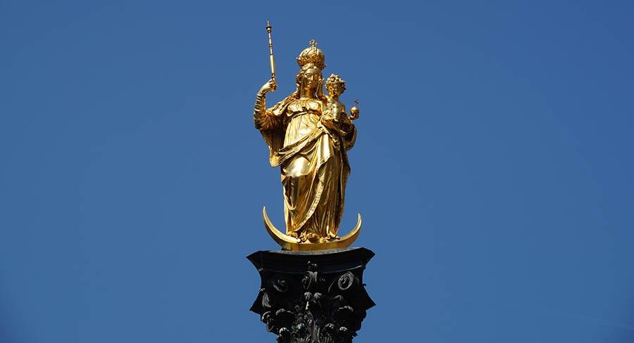 Mariensäule in München auf dem Marienplatz