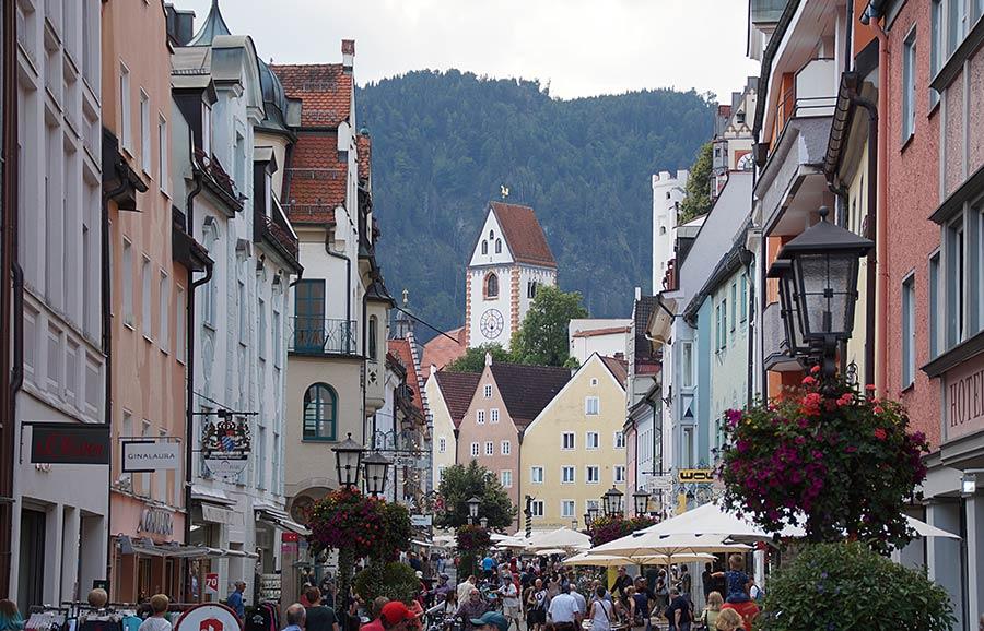 Reichenstraße in der Altstadt von Füssen