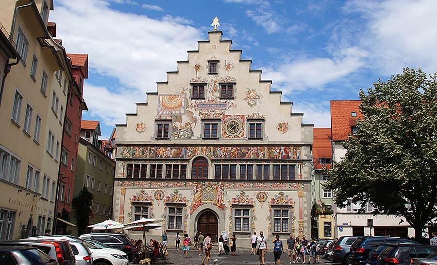 Altstadt von Lindau Rathausrückseite