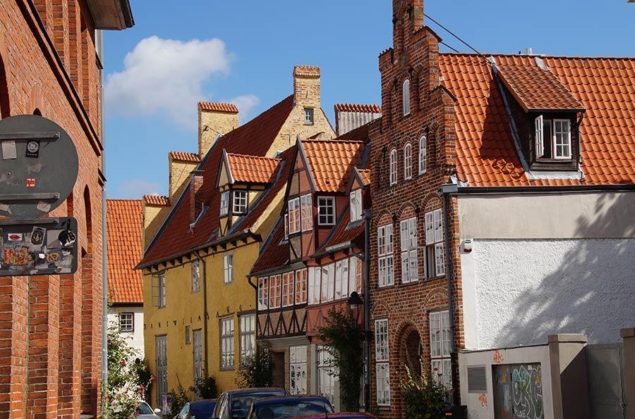 Gotische Häuser in Lübeck