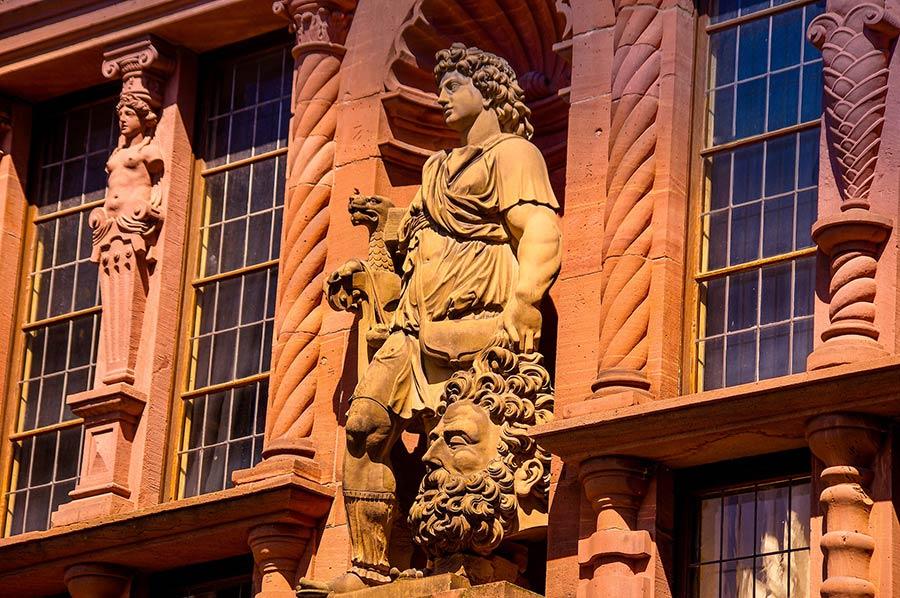 Schooll über der Altstadt von Heidelberg