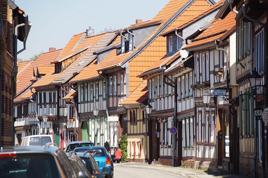 Fachwerkhäuser als bekanneste Sehenswürdigkeiten von Wernigerode