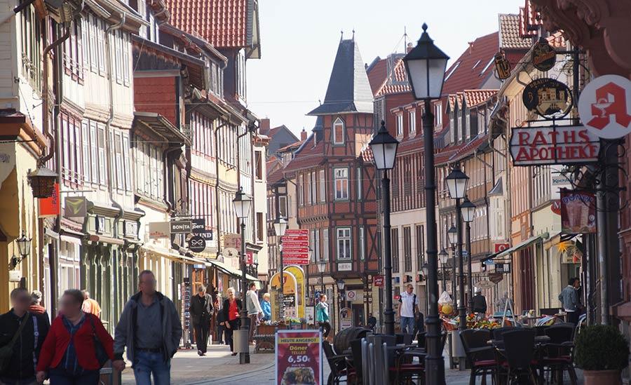 Altstadt von Wernigerode mit der Breiten Straße