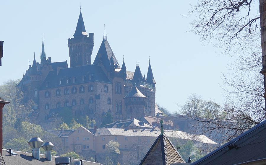 Schloss über der Altstadt von Wernigerode