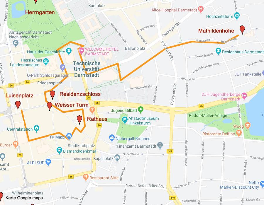 Sehenswürdigkeiten in Darmstadt