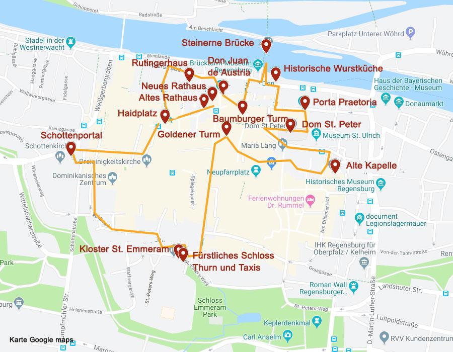 Sehenswürdigkeiten in Regensburg