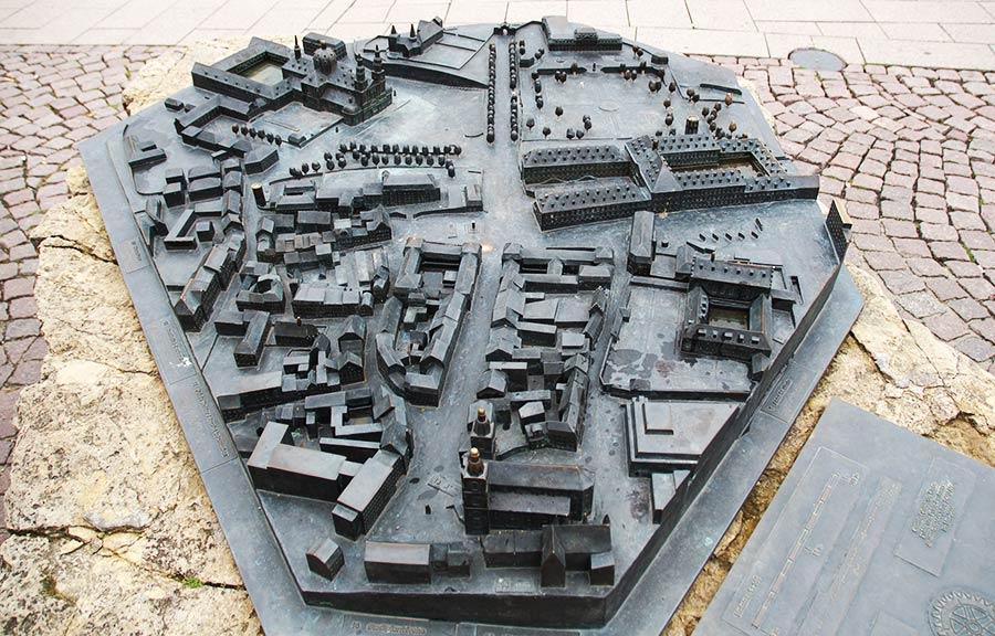 Modell der Altstadt von Fulda