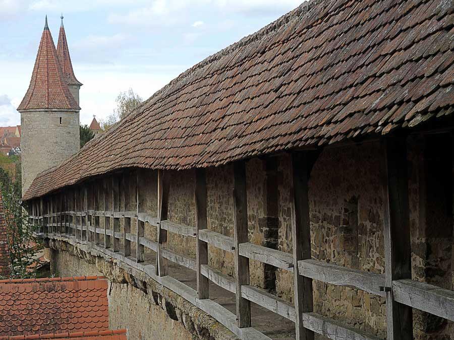 Stadtmauern in Deutschland in Rothenburg ob der Tauber