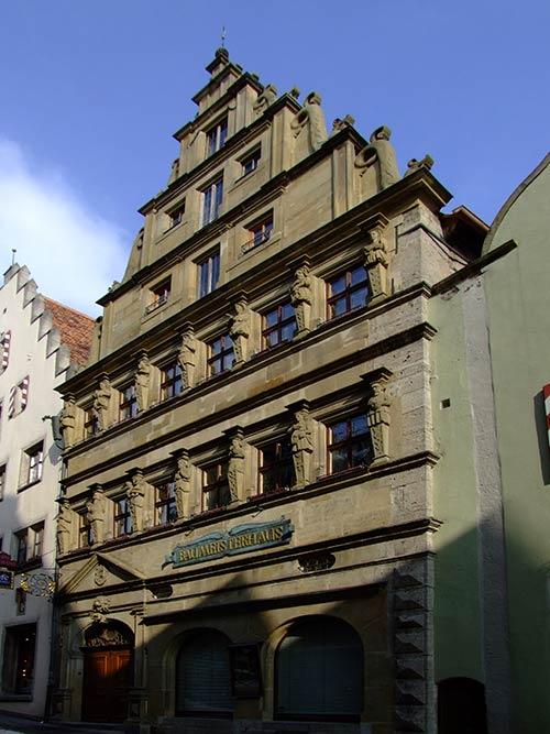 Baumeisterhaus, eine der Sehenswürdigkeiten in Rothenburg