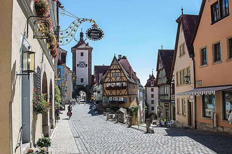 Plönlein als eine der schönsten Sehenswürdigkeiten in Rothenburg