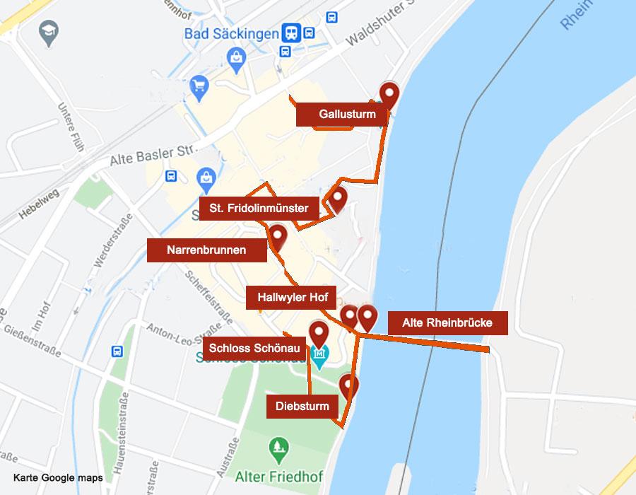 Karte Bad Säckingen