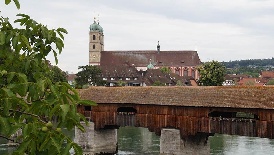 Blick auf die Sehenswürdigkeiten in Bad Säckingen
