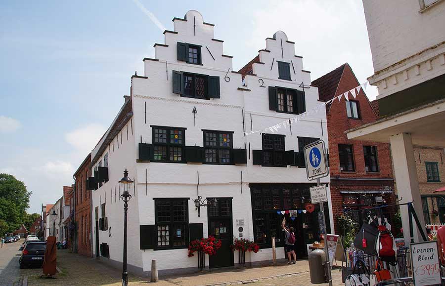 Doppelgiebelhaus in der Holländerstadt Friedrichstadt
