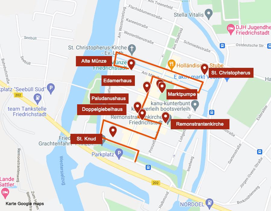Karte Friedrichstadt